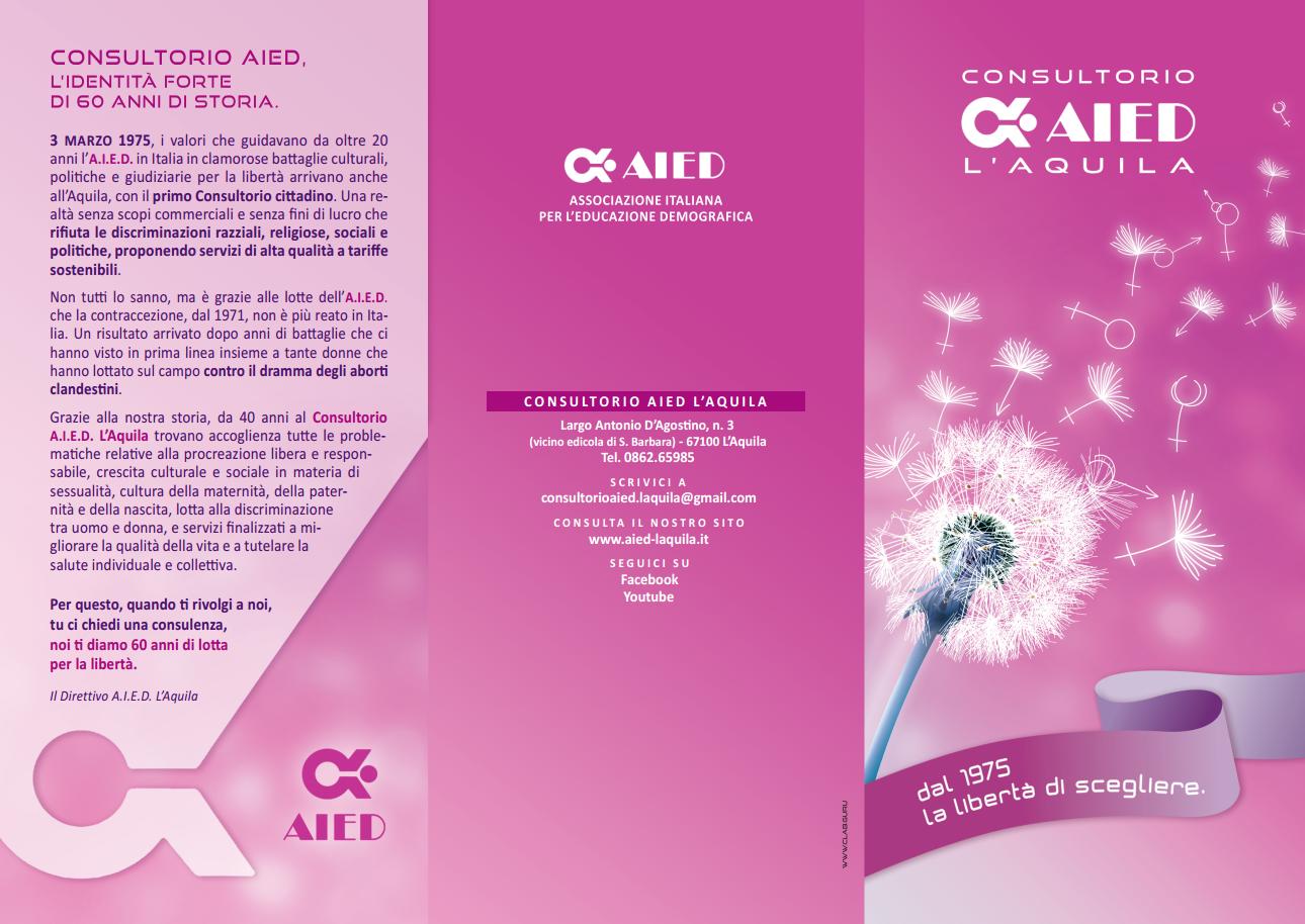 brochure aied l'aquila p.1